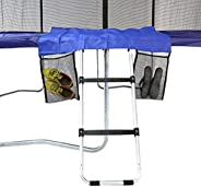 Skywalker Trampolines Unisex Child 2 Rung Trampoline Ladder With Door Mat and Shoe Bag - Grey, One Size