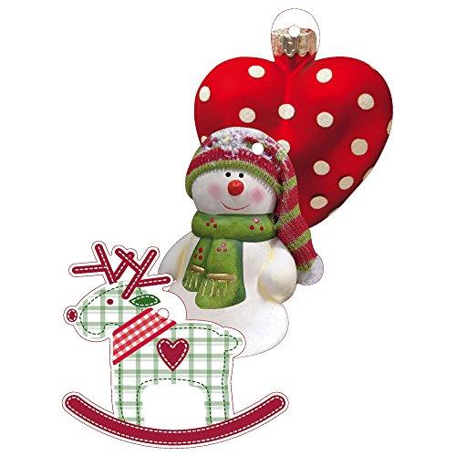 Susy Card 11276524 Weihnachts-Anhängerkarten, 3er Packung, 3 Motive + Formen sortiert