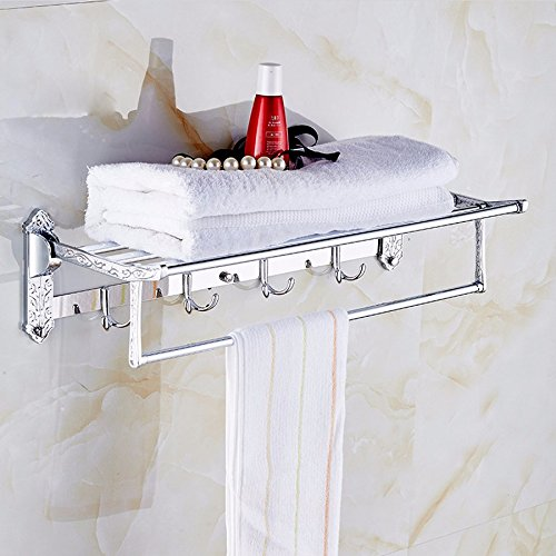 MDRW-Accessoires De Salle De Bain Support De Serviette Badezimmer Handtuchhalter Edelstahl Material Falten An Der Wand Double Layer Drucken Handtuchhalter
