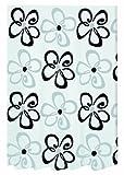 Spirella Follie Textil-Duschvorhang Polyester 240 x 180 cm, weiß/schwarz/grau
