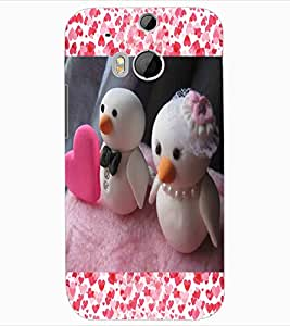 ColourCraft Lovely Dolls Design Back Case Cover for HTC ONE M8