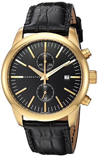 Momentum Men's Analog Japanese-Quartz Watch with Leather Strap 1M-SN28B2B