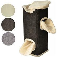 nanook Kratztonne Kratzbaum Square, XXL Höhe 100 cm, robust und stabil - schwarz