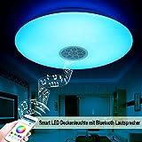 Autai Deckenleuchte LED Deckenlampe 24W RGB Farbwechsel Dimmbar mit Smart Bluetooth Lautsprecher Timer und Handy APP für Wohnzimmer, Schlafzimmer, Balkon (APP Controls Color)