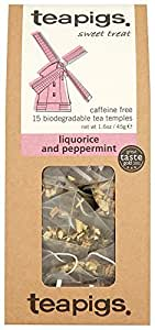 Teapigs Liquorice Peppermint tea 15 Teabags (Pack of 2, Total 30 Teabags)