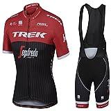Mens Cyclisme Jersey Équipe Cyclisme Vêtements Jersey Bib Shorts Kit Chemise à séchage rapide Vélo Vêtements En Plein Air , red , XL