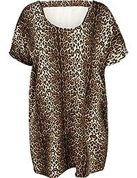 Zizzi Damen Knielang Kleid mit Kurzarm Jerseykleid, Große Größen 42-56 70f3f9ce7d