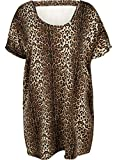 zizzi Damen Knielang Kleid mit Kurzarm Jerseykleid, Große Größen 42-56