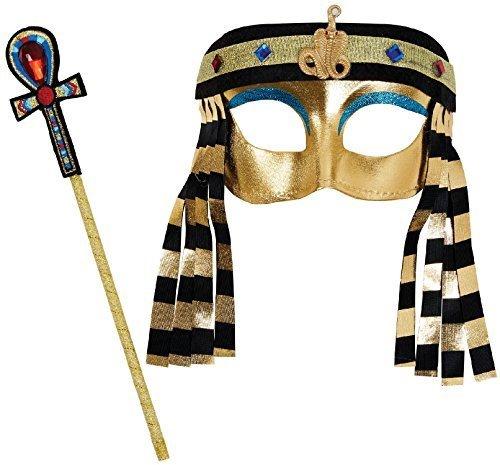 (Mädchen Jungen Instant Altägyptischer König Königin Kleopatra Welttag des Buches-Tage-Woche Halloween Karneval Kostüm Kleid Outfit Set)
