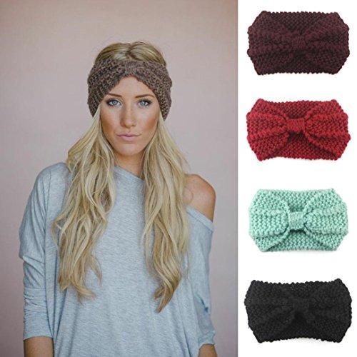 BZLine® Damen Stirnband Winter Kopfband Haarband Winter wärmer Haarband (Schwarz) - Bild 2