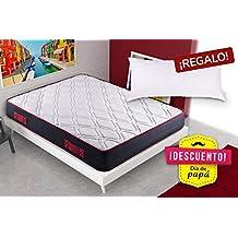 KAMA HAUS | Colchón Visco-Red Confort 70x190 | con Viscoelástica | 2 Caras:
