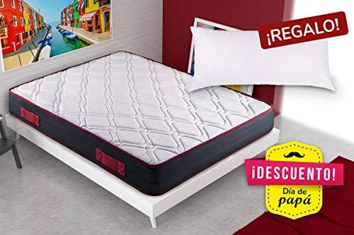 KAMA HAUS   Colchón Visco-Red Confort 105x190   con Viscoelástica...