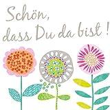 ARTEBENE Servietten /33X33/ Schön dass Du da bist / Blumen multicolor