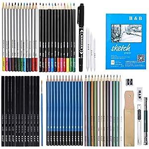 Kunst-Buntstifte in lebendigen Farben, vorgeschärft, Set Zeichenstifte für Skizzen, für Erwachsene, Malbücher, Künstler, Zeichnen, Skizzieren, Basteln 72PCS