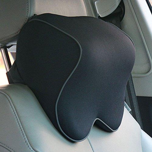 Preisvergleich Produktbild Haosen Autositze Nackenstützen Nackenkissen auto Kopfstuetze Raum Memory Foam Kopfstützen kissen für auto- Einfach und komfortabel,Knochentyp Kopfdruck entlasten (Einzel Bandage Schwarz)