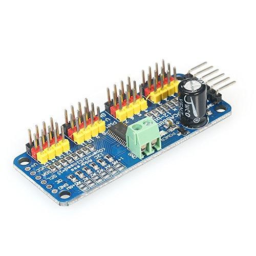 KKmoon 16 Kanal 12 Bit PWM Servomotortreiber Board Modul Drive Controller IIC-Schnittstelle für Arduino Roboter