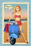 Unbekannt Poster 80 x 120 cm: Hello from the 50s von Monika Jüngling - hochwertiger Kunstdruck, neues Kunstposter