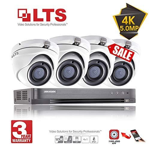 Hikvision 5Mp CCTV Security Surveillance System 4K Dvr 4Ch H.265+ Hik 5 Mp 4 Channel 2.8Mm Camera Outdoor Night Vision Kit Uk Seller Ds-7204Huhi-K1 Ds-2Ce56H1T-Itm (Full Kit + 4 Cameras + No HDD) - Dvr-system Kit