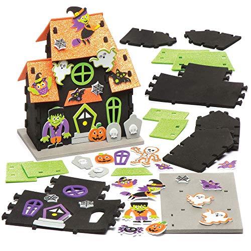 Baker Ross Kits Maison hantée (Lot de 2), Loisirs créatifs et décorations d'halloween pour Enfants