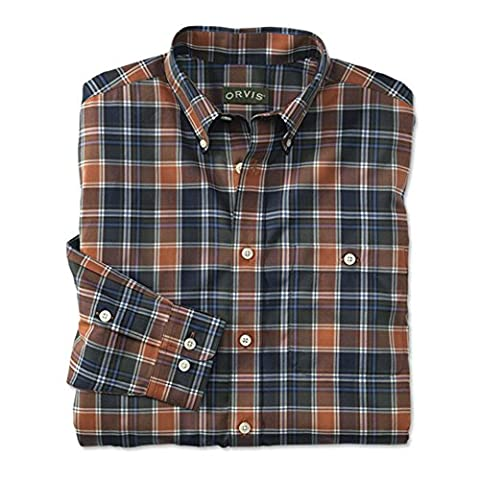 Orvis Wrinkle-free Pure Cotton Long-sleeved Shirt, Autumn Hunter, X