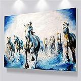 UIEMMY Peinture à l'huile Dropship Running Cheval Peinture Mur Art Abstrait Peinture sur Toile Posters Pas Cher Et Impressions Mur Photos pour Salon Décor, 60x90cm