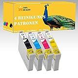 4x NON OEM Tinte zum Drucker / Druckkopf Reinigen für Epson Stylus: DX9200 / DX9400F / S20 / S21 / SX100 / SX105 / SX110 / SX115 / SX200 / SX205 / SX210 / SX215 / SX218