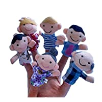 "16PC Finger Puppets Animals People Family Members Educational Toy Cute friendGG Cartoon Doll Kids Glove Soft Plush Toys For Story telling, Teaching, Preschool, Role-Play Learn Story Stuffed Toy (2.75"" - 4""/// 2.76"" x 1.18"", as the picture)"