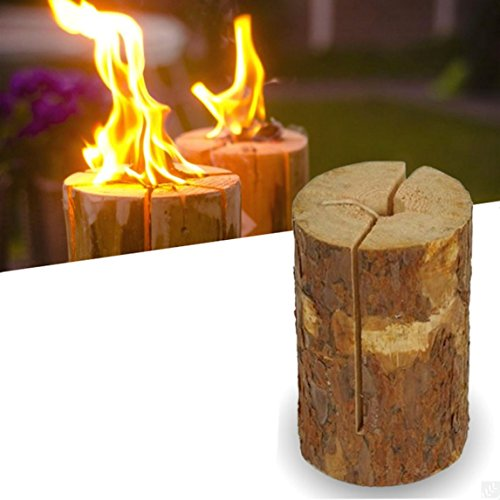 real-wood-small-party-light-garden-fire-log-candle-torch-set-of-2