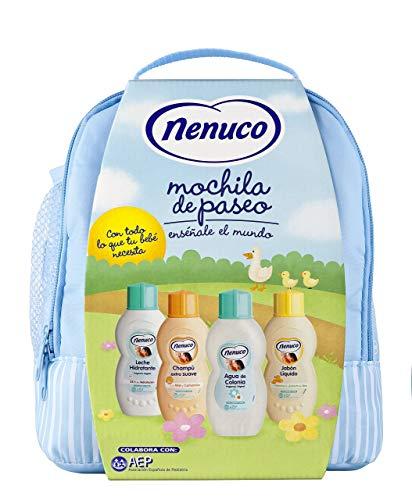 Nenuco Pack Regalo Bebé Mochila Paseo Azul 4 x 200ml