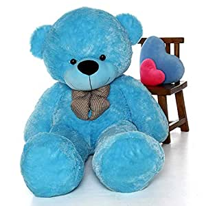 CLICK4DEAL Stuffed Spongy Teddy Bear for Kids (6 ft, Sky Blue)