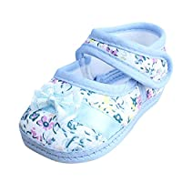 MERICAL Baby Girl Soft Sole Bowknot Print Anti-Slip Casual Shoes Toddler