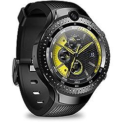 Zeblaze THOR 4 Reloj Inteligente Dual, Reloj Deportivo De Posicionamiento Global, Procesador De Cuatro Núcleos De 64 Bits + Cámara Dual 4G 5MP, 1 + 16G - Adecuado Para Negocios Deportes, Android / IOS