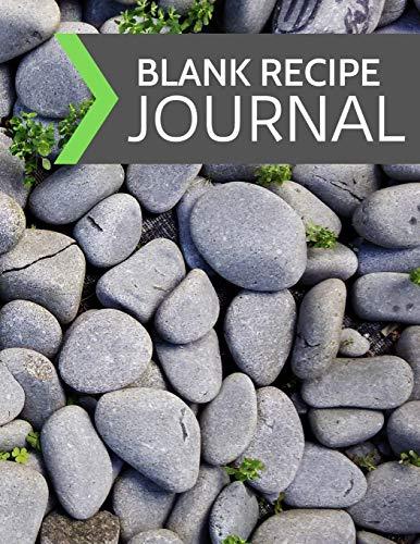 Blank Recipe Journal: Blank Empty Recipe Cookbook /  Journal to Write in, ... Gift for Men, Women, Husband, Wife, Mom, Dad: Modern Garden Rocks Design (8.5
