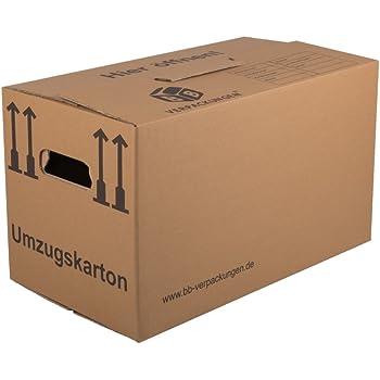 BB-Verpackungen Umzugskarton, 30 Stück, (Profi) 2-WELLIG + doppelter Boden