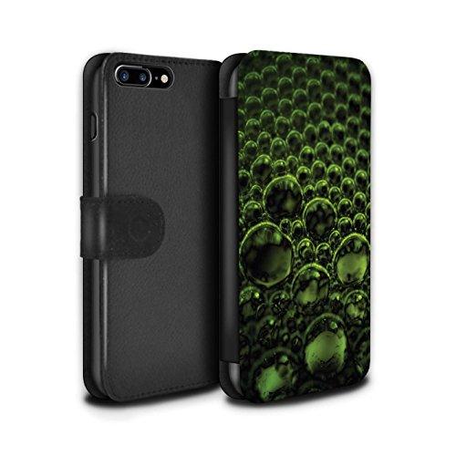 Stuff4 Coque/Etui/Housse Cuir PU Case/Cover pour Apple iPhone 7 Plus / Rouge Design / Bulles/Gouttelettes Collection Vert