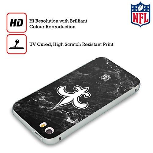 Ufficiale NFL Pattern 2017/18 New Orleans Saints Argento Cover Contorno con Bumper in Alluminio per Apple iPhone 5 / 5s / SE Marmo
