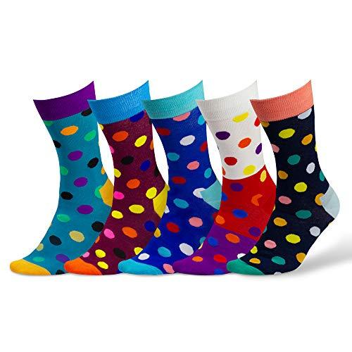 Damen & Herren bunte Socken (5 Paar) (2. Mix)