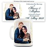 Twisted Envy Becher Harry und Meghan Hochzeit auf Schloss Windsor, keramik, weiß, 15 OZ