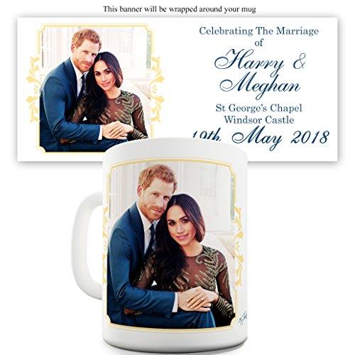 Twisted Envy Becher Harry und Meghan Hochzeit auf Schloss Windsor, keramik, weiß, 11 OZ (Kaffee-prinz-becher)