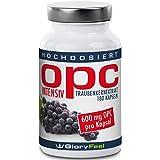 OPC extracto de semillas de uva intensivement–180Cápsulas a la dose máximo para 6meses Grapeseed Extract–600mg OPC + 12mg Vitamina C par gélules–100% antioxidante natural–Calidad superior