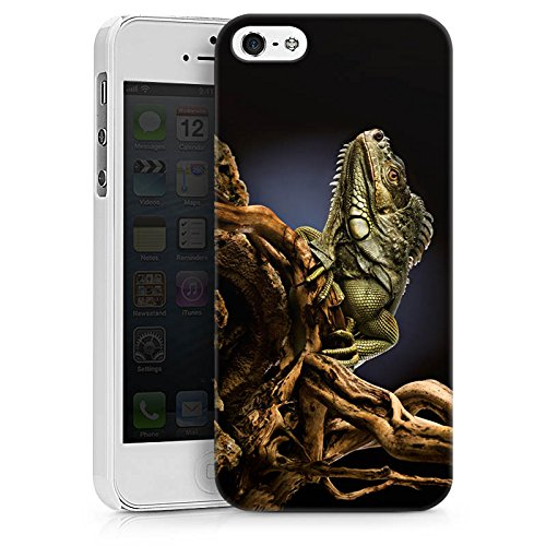 Apple iPhone X Silikon Hülle Case Schutzhülle Echse Reptil Tier Hard Case weiß