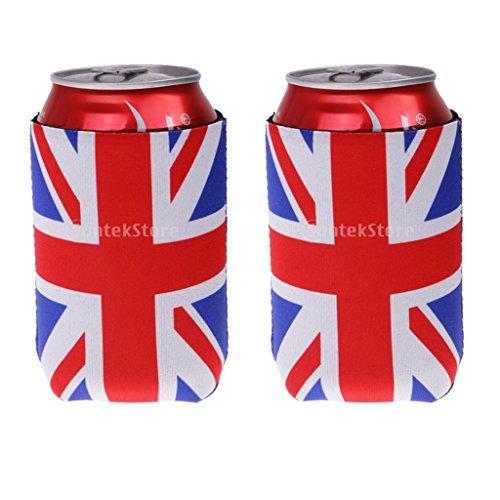 2x Neopren Dosen Kühltasche Dosenkühler Getränkekühler Bierkühler UK Flagge