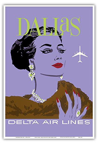 dallas-texas-delta-air-lines-vintage-airline-travel-poster-by-john-hardy-c1960s-stampa-artistica-di-