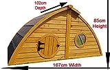 Hühnerstall Hühnerhaus Cocoon Hühnerstall sehr gross für 6 Vögel oder 10 Wachteln, abnehmbares Dach für einfachere Reinigung, mit Lüftungslöchern, mit stabilem Nistkasten, grosser Lebensraum und 210cm Lang inklusive Nistkasten - mehr als 130cm hoch - 2