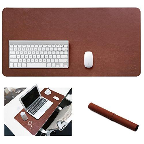 yikda Erweitertes Leder Gaming Maus Pad/Matte, große Büro Schreibtisch Computer Leder Matte Mousepad, wasserdicht, ultra dünn 1,2mm–80x 39,9cm (Leder-set-spiel-tisch)