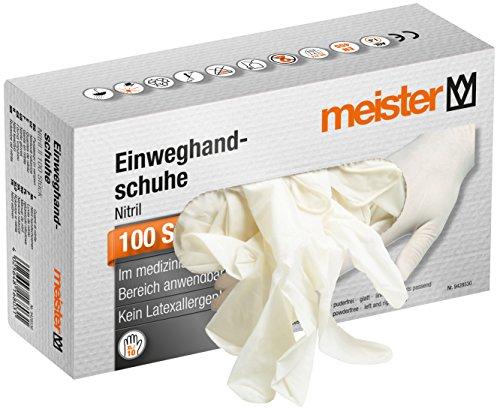 Maister Latex Handschuhe, Pro Liquid Einmalgebrauch Plus, Klar XL, 100 Stück