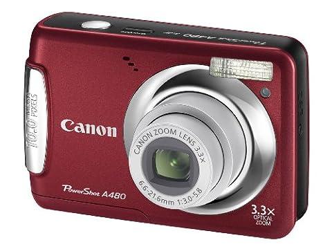 Canon Powershot A480 Digital Camera - Red (10 MP, 3.3x