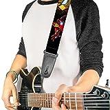 Boucle vers le bas Sangle de guitare Marvel Avengers Iron Man Motif