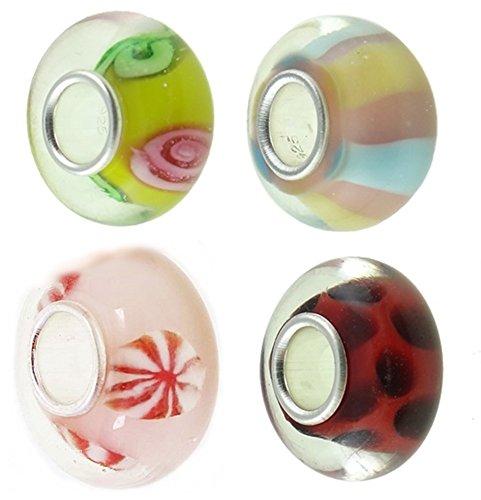 Timeline Treasures Europäische Charm-Armband für Pandora Lampwork Glas nur für Mädchen 2013