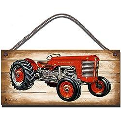 Letrero de Madera para Colgar en la Pared, diseño de mássey Ferguson 65, diseño Vintage de Tractor ilustración de cumpleaños